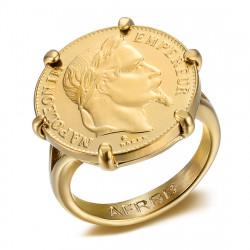 Moneta da 20 franchi placcata in oro con anello graffiato Napoleone IM#20119