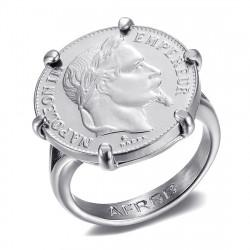 Juego de anillos con garras de Napoleón Moneda 20 francos Louis Gold Silver IM#20126