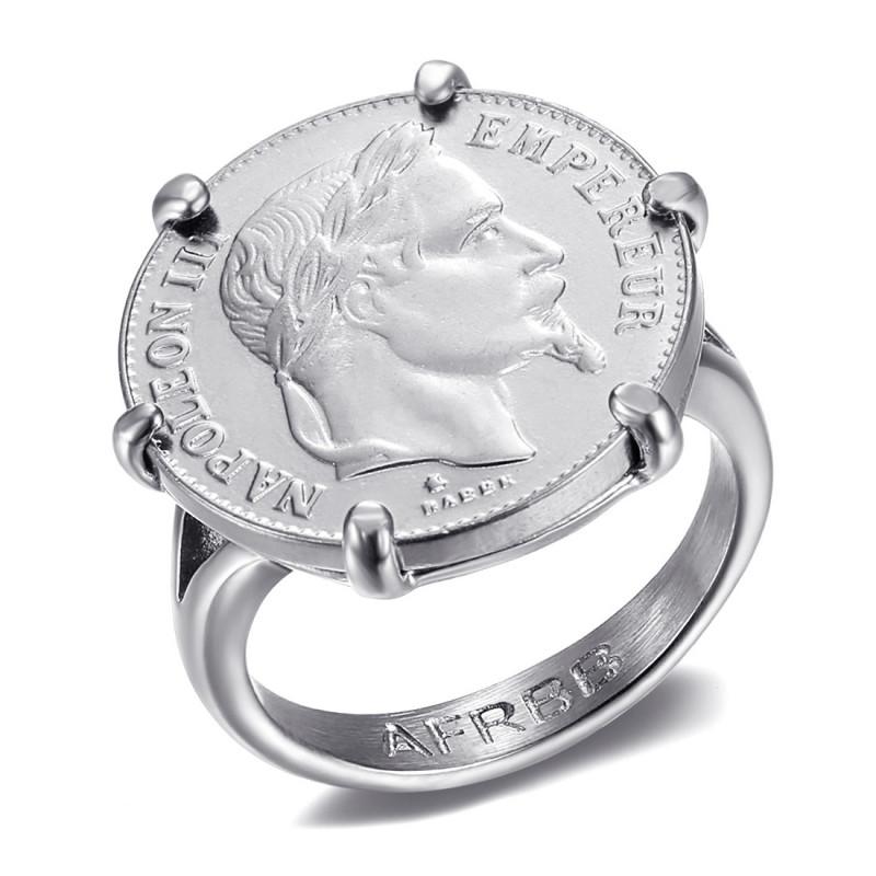 Anello con artigli di Napoleone Set moneta 20 franchi Louis oro argento IM#20126