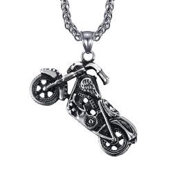 PE0049-MED BOBIJOO Jewelry Colgante de motociclista HD Collar de motocicleta Man Patriot