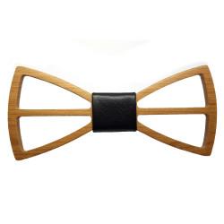 NP0008 BOBIJOO Jewelry Bow Tie Wood Maple Openwork Modern Design