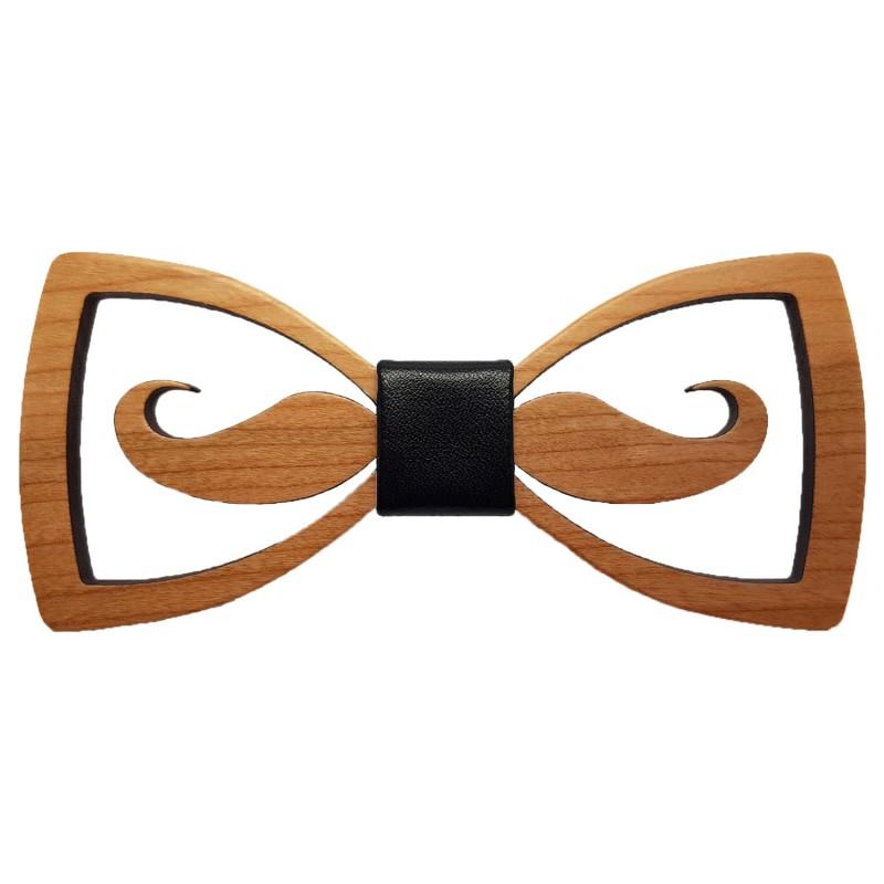 Noeud Papillon Bois Moustache ajourée bobijoo
