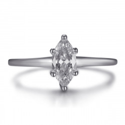 BAF0055S BOBIJOO Jewelry Marquise ring, discreet stainless steel jewel