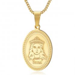 PEF0061 BOBIJOO Jewelry Ciondolo Medaglia Sara l'Oro Nero Saintes Maries de la Mer