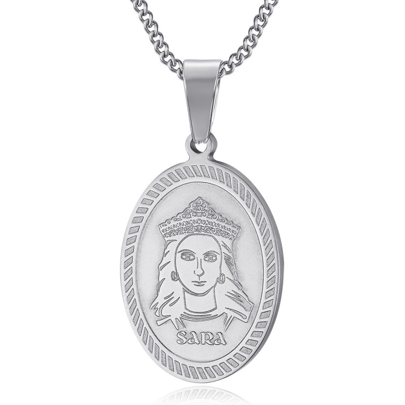 PEF0061S BOBIJOO Jewelry Anhänger Medaille Sara die Schwarze Saintes Maries de la Mer