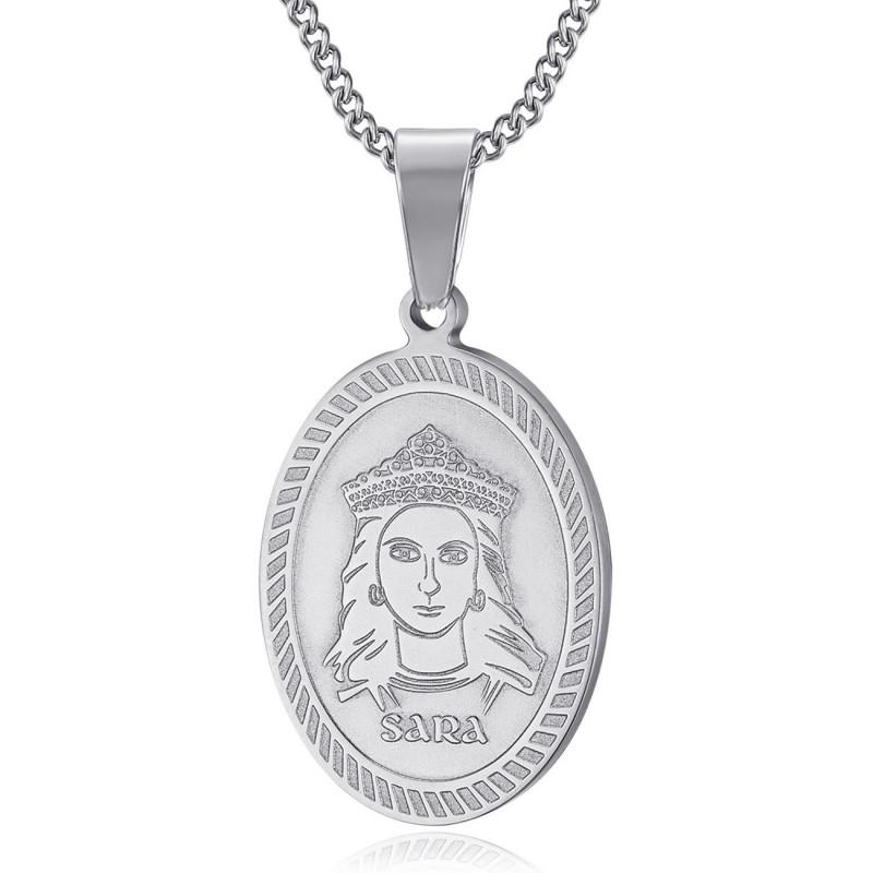 PEF0061S BOBIJOO Jewelry Colgante Medalla de Sara la Negra Saintes Maries de la Mer