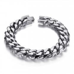 BR0016 BOBIJOO Jewelry Cadena de bordillo para hombre Maillon 13 mm Acero inoxidable