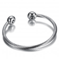 BR0231 BOBIJOO Jewelry Magnetic Bracelet Balls Cable Woman Stainless Steel