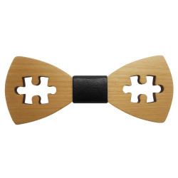 NP0032 BOBIJOO Jewelry Bow tie wood maple puzzle game
