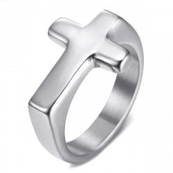 BA0405S BOBIJOO Jewelry Cross ring Man Woman Child Stainless steel