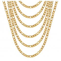 La cadena Figaro Oro 4.5 mm 4 Longitudes IM#20806