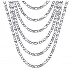 PE0011S BOBIJOO Jewelry Figarokette Edelstahl Silber 5 mm