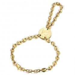 BR0295 BOBIJOO Jewelry Bracciale Passa Mano Anello Coffee Bean Napoleon Gold