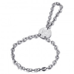 BR0295S BOBIJOO Jewelry Passa Mano Ring Bracelet Coffee Bean Napoleon Silver