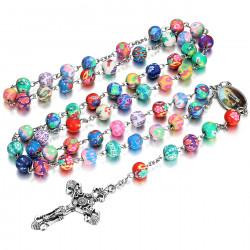 Chapelet Lourdes Prière Rosaire Dizainier Perle argile bobijoo