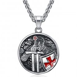 PE0340 BOBIJOO Jewelry Templar pendant knight warrior of the temple