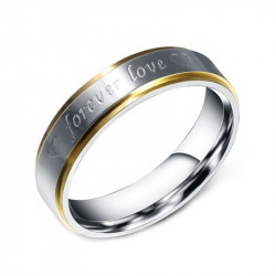 AL0022 BOBIJOO Jewelry Alliance Steel, Silver Wire, Gold Mixed Forever Love