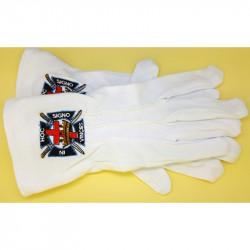 GAN0002 BOBIJOO Jewelry Handschuhe Freimaurer Bestickt In Hoc Signo Vinces Freimaurer-Einheitsgröße S, M, L