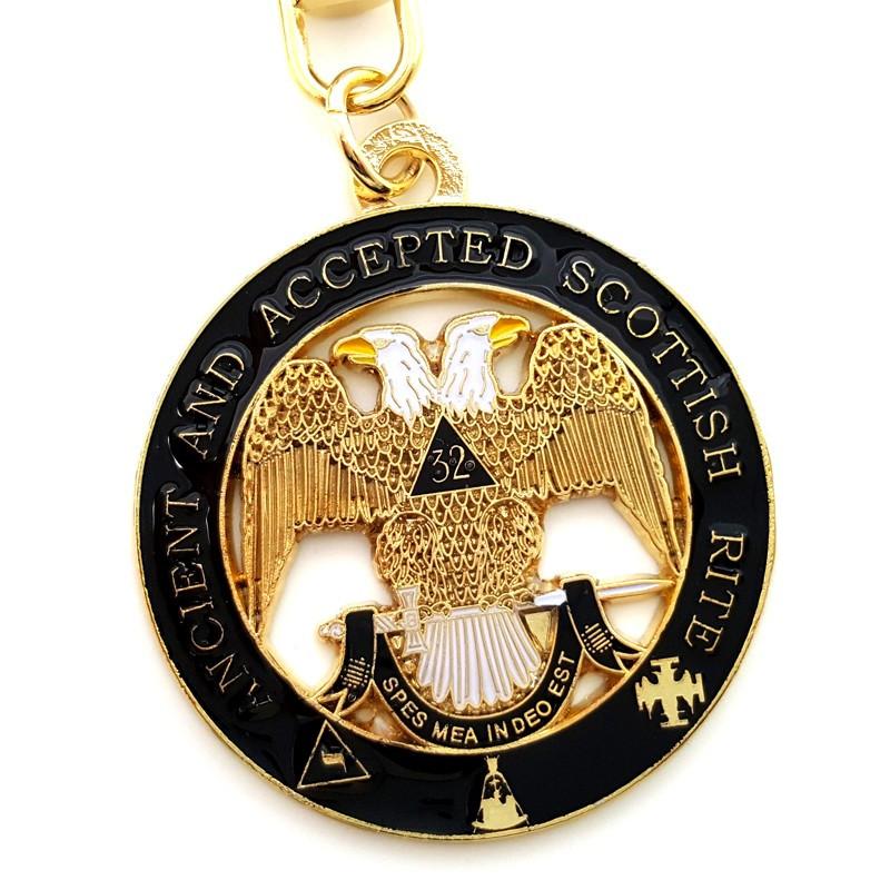 PCL0002 BOBIJOO Jewelry Key Ring Masonic Black Eagle 32