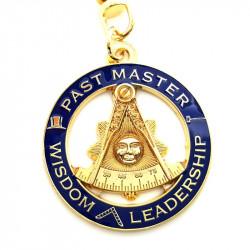 Keyring Round Masonic Past Master