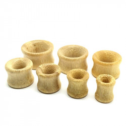 Plug Wood Bamboo Expander Camel Color