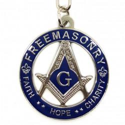 Keyring Round Masonic FreeMasonry Faith Hope and Charity