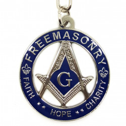 PCL0004 BOBIJOO Jewelry Porte-Clés Masonic FreeMasonzy Faith Hope and Charity