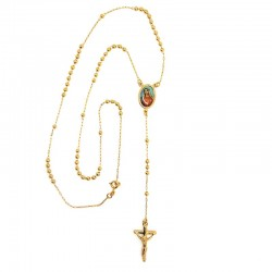 CP0019 BOBIJOO Jewelry Rosary, Gold Yellow Mary