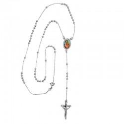 CP0020 BOBIJOO Jewelry Rosario, Oro Blanco