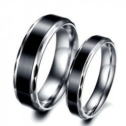 AL0030 BOBIJOO Jewelry Alliance Bague Anneau Acier Inoxydable Titane Noir
