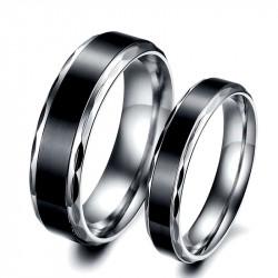 AL0030 BOBIJOO Jewelry Alliance Ring Ring Stainless Steel Titanium Black