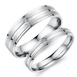 AL0033 BOBIJOO Jewelry Alianza Elección De Acero Inoxidable, Cepillado De Circonio