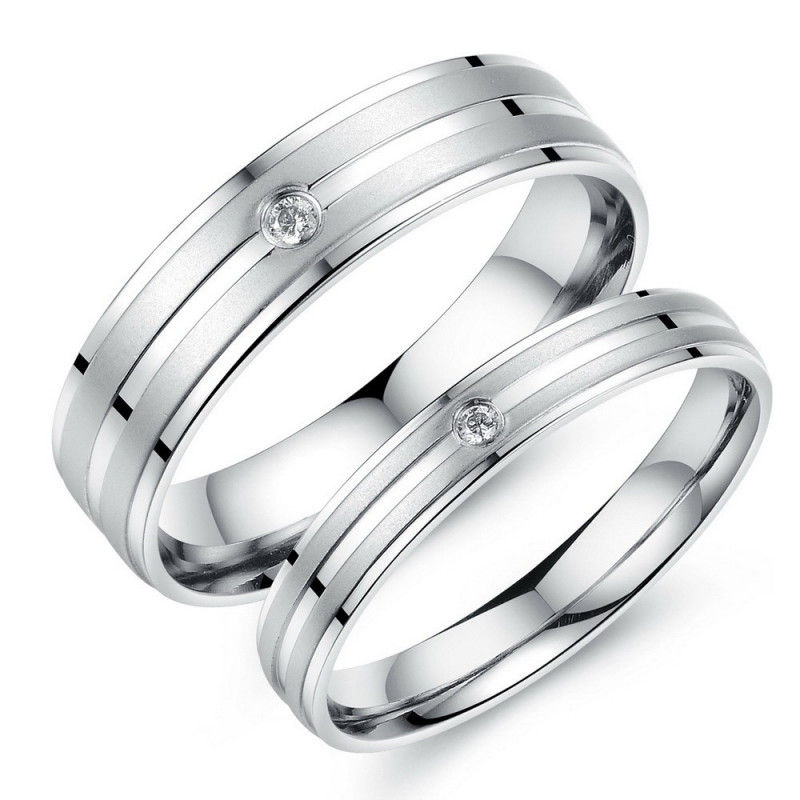 AL0033 BOBIJOO Jewelry Allianz Nach Wahl-Edelstahl-Zirkonium-Gebürstet