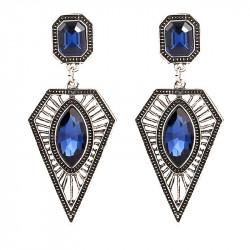 BOF0032 BOBIJOO JEWELRY Par de pendientes de Diamante Azul