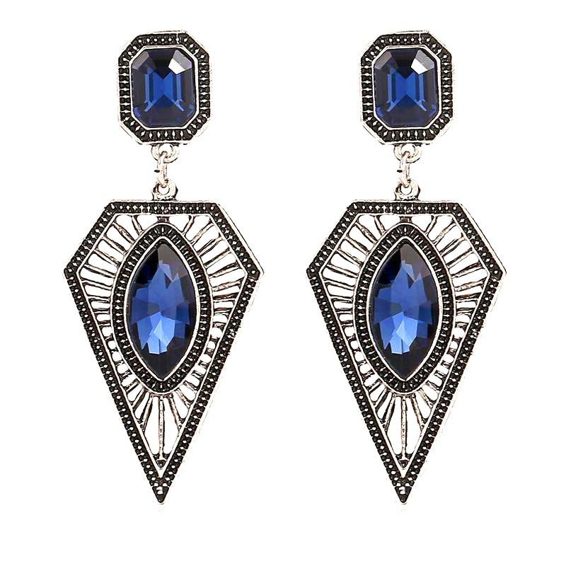 BOF0032 BOBIJOO JEWELRY Pair of earrings Blue Diamond