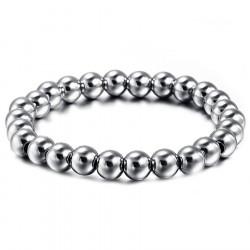 Bracelet Perles Acier Inoxydable bobijoo