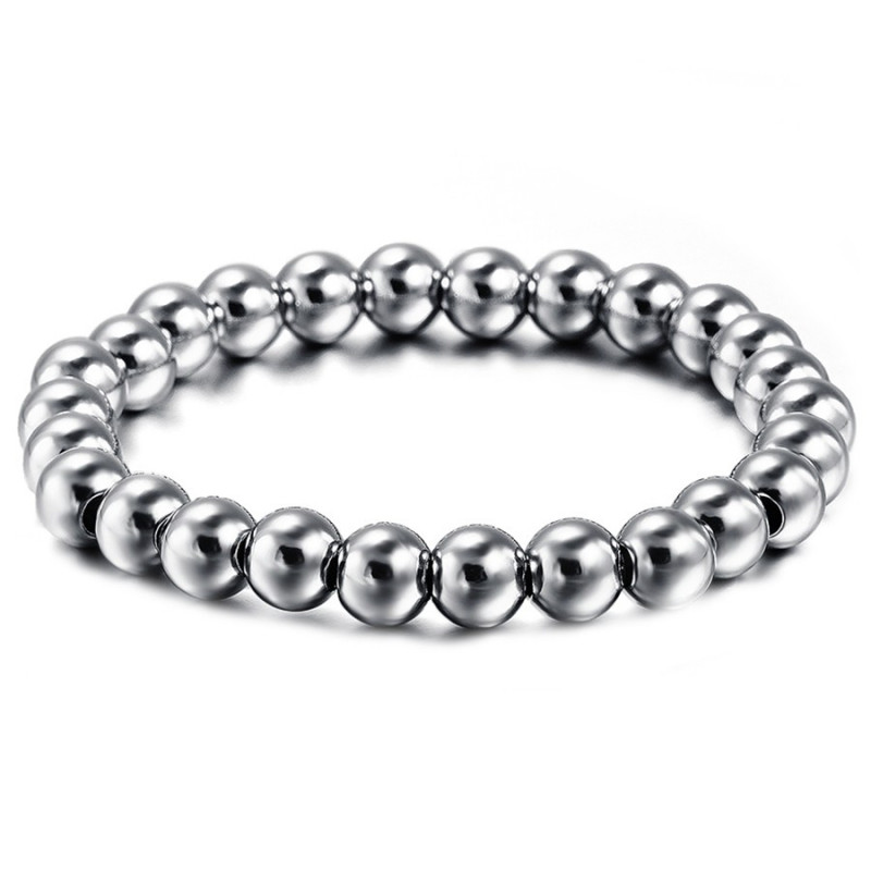 BR0077 BOBIJOO Jewelry Beads Bracelet, Stainless Steel