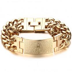 GO0002 BOBIJOO Jewelry Acera De La Cadena De Pulsera De Hombre De La Cruz