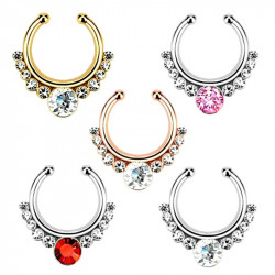 Septum Steel Stainless Rhinestone