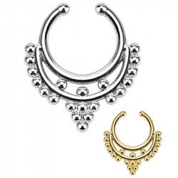 PIP0004 BOBIJOO Jewelry Septum Faux Piercing Nez 2 Couleurs au Choix