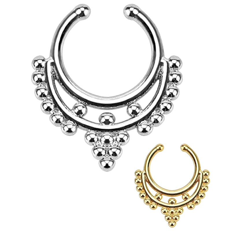 PIP0004 BOBIJOO Jewelry Septum Fake Nose Piercing 2 Colors to choose from