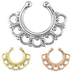 PIP0005 BOBIJOO Jewelry Septum Faux Piercing Nez 3 Couleurs au Choix