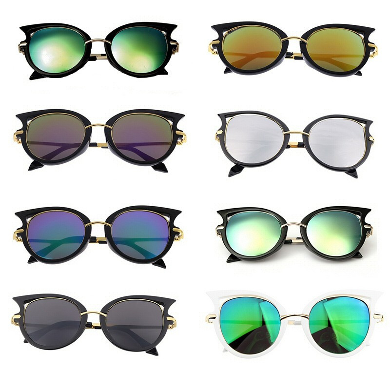 LU0004 BOBIJOO Jewelry Sunglasses Cat Eye Retro Metal