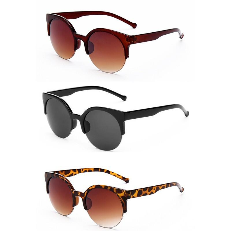 LU0005 BOBIJOO Jewelry Sunglasses Half-Edges Round