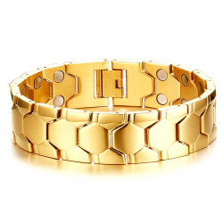 Magnetic Bangle Stainless Gold Plated
