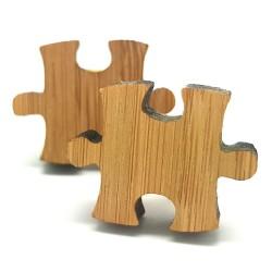 BM0013 BOBIJOO Jewelry Boutons de Manchette Bois Puzzle