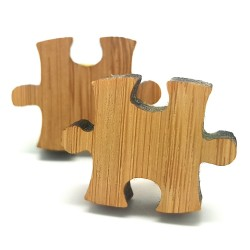 BM0013 BOBIJOO Jewelry Manschettenknöpfe Holz Puzzle