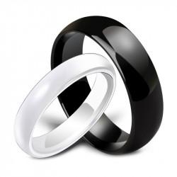 AL0034 BOBIJOO Jewelry Alliance-Ring Keramik Schwarz oder Weiß, Mann-Frau