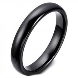 AL0035 BOBIJOO Jewelry Alliance Bague Céramique Noire 3mm Mixte