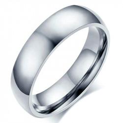 AL0038 BOBIJOO Jewelry Alliance Bague Anneau Acier Inoxydable Argenté 6mm